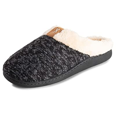 Polar Mens Memory Foam Comfort Plush Rubber Sole Outdoor Winter Anti Slip House Cozy Faux Fur Slippers Duel Size | Slippers
