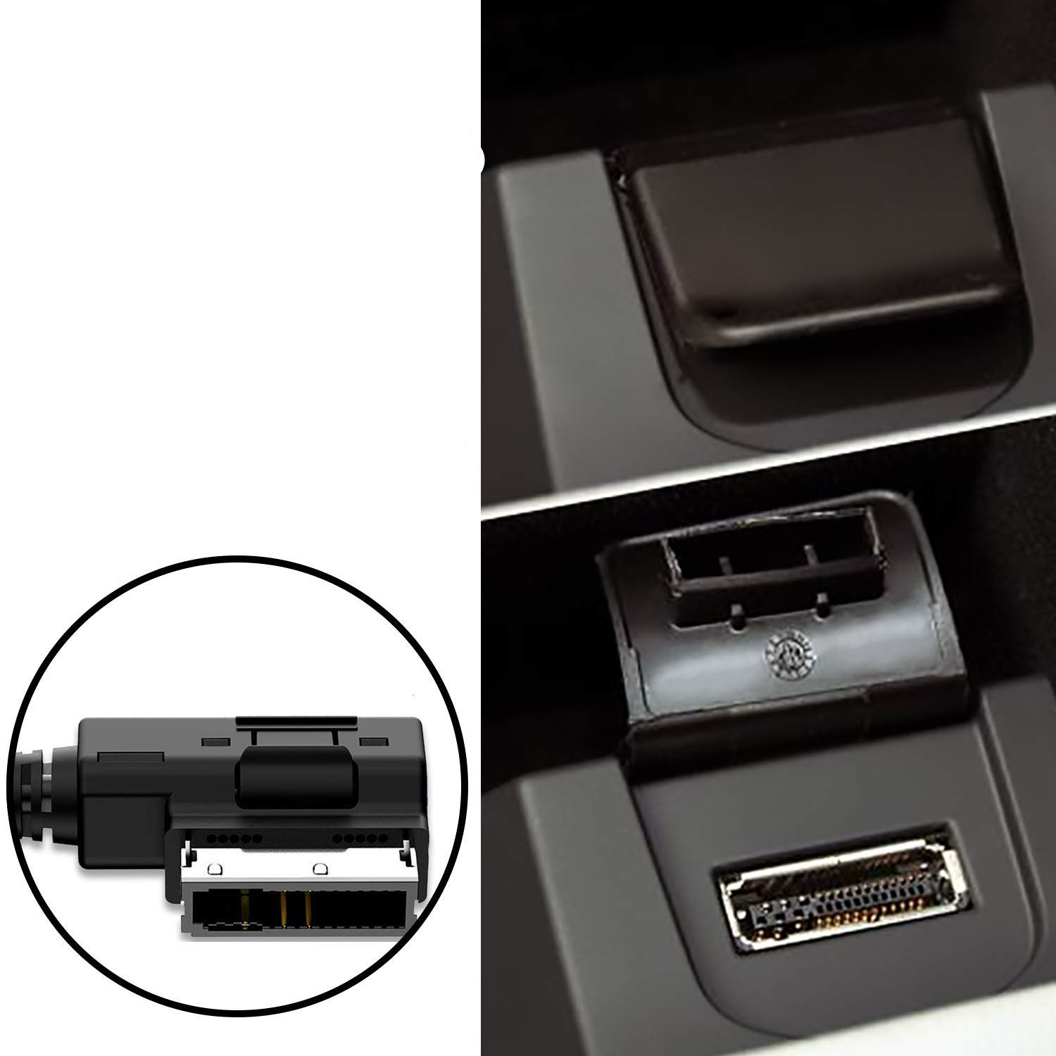 MDI MMI MDI Aux Cable Music Interface and Power Adapter Compatible for iPXs Xs Max 8 7 for Select Mercedes Benz Models 3FT