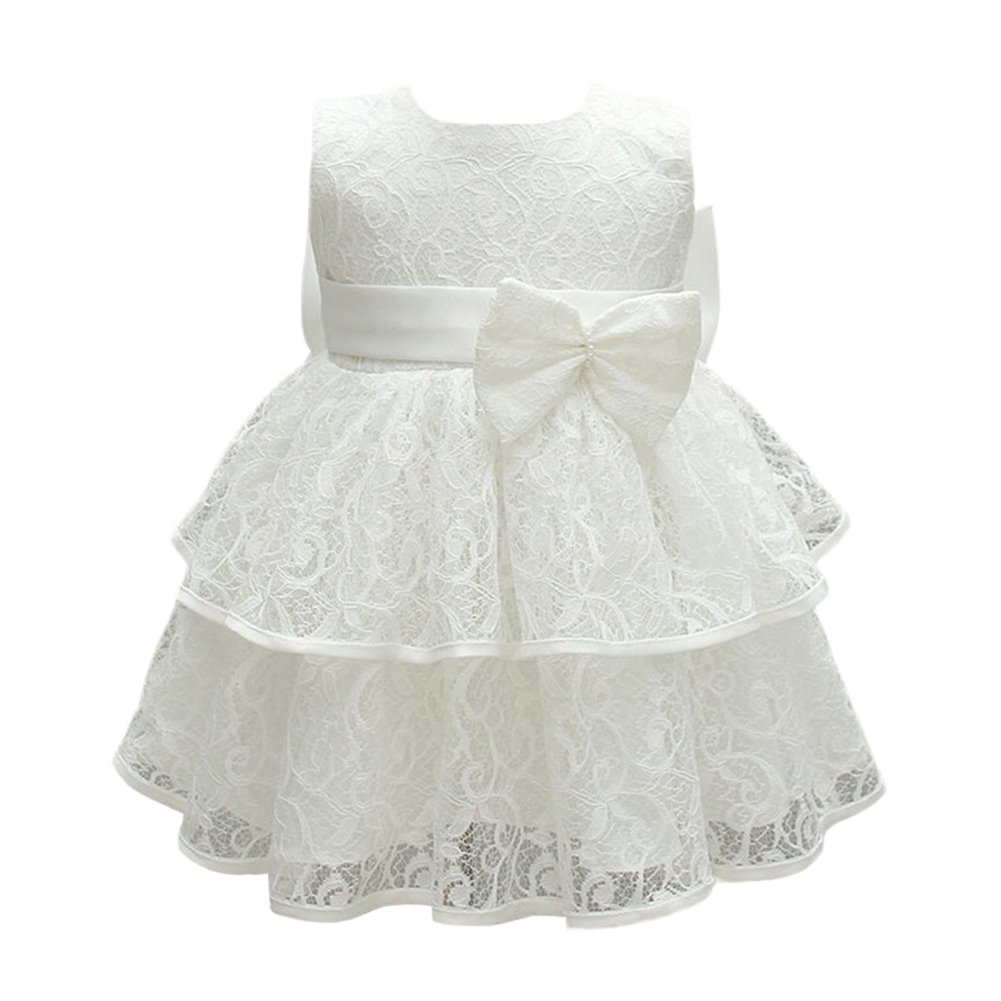 8913dc76eb Glamulice Baby Girls Infant Lace Party Dresses Princess Wedding Birthday  Formal Dress for Toddler