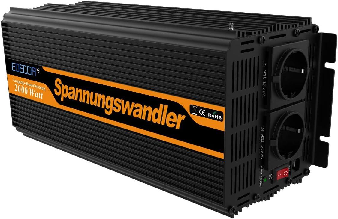 Inversor 12v 220v convertidor 2000w onda modificada transformador ...
