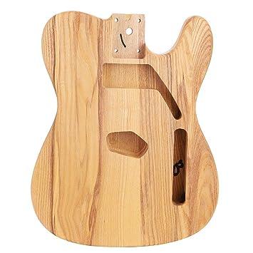 Dilwe DIY Guitarra Cuerpo Inacabado, Madera Maciza de Qrce Unfinished Guitar Body para TL Style Telecaster Part: Amazon.es: Deportes y aire libre