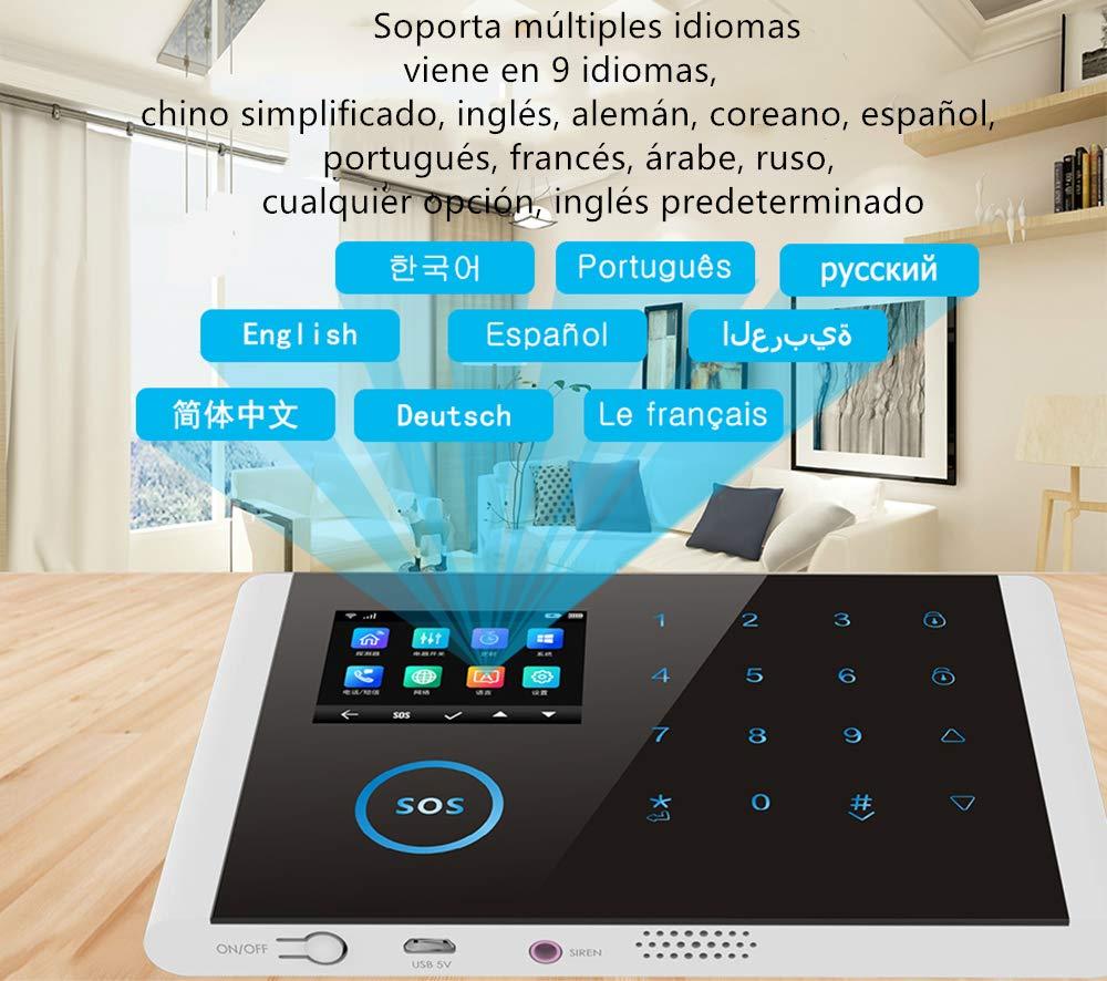 Bostar sistema de alarma Multi-network idioma inal/ámbrico WIFI+GSM+GPRS sensor antirrobo para hogar oficina host inal/ámbrico timbre 2#