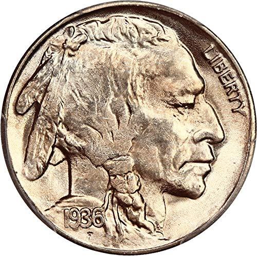 1936 S Buffalo Nickels Nickel MS65 PCGS ()