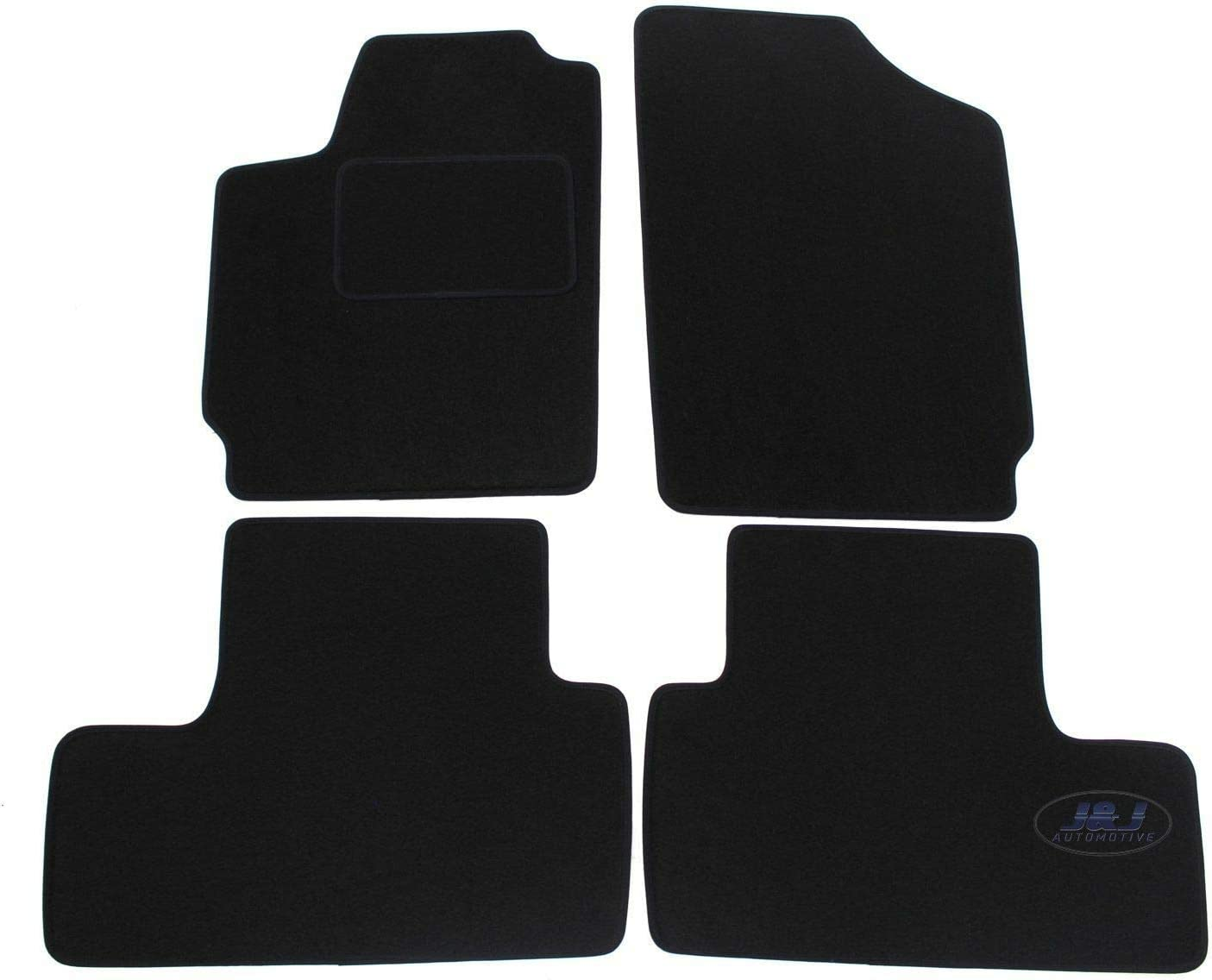 Tapis de Sol Noir Velours Compatible avec Citroen BERLINGO 2003-2008 4 pcs J/&J AUTOMOTIVE