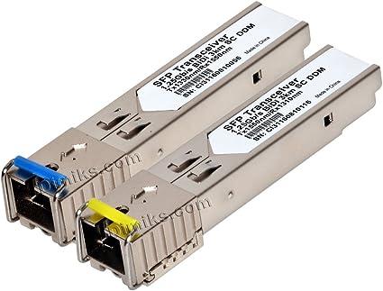 1 PAIR 3km 1.25GB//s SFP-BX03-D Tx1550nm//RX1310nm transceiver SC Connector