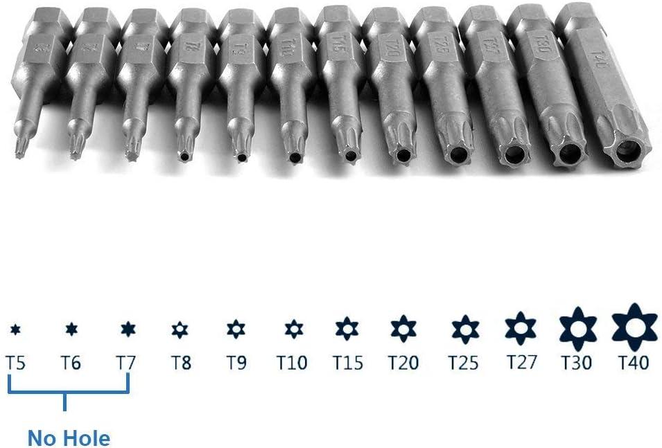 50 mm attacco esagonale esagonali Bestgle in lega di acciaio da 1//4 Set di 12 viti magnetiche di sicurezza