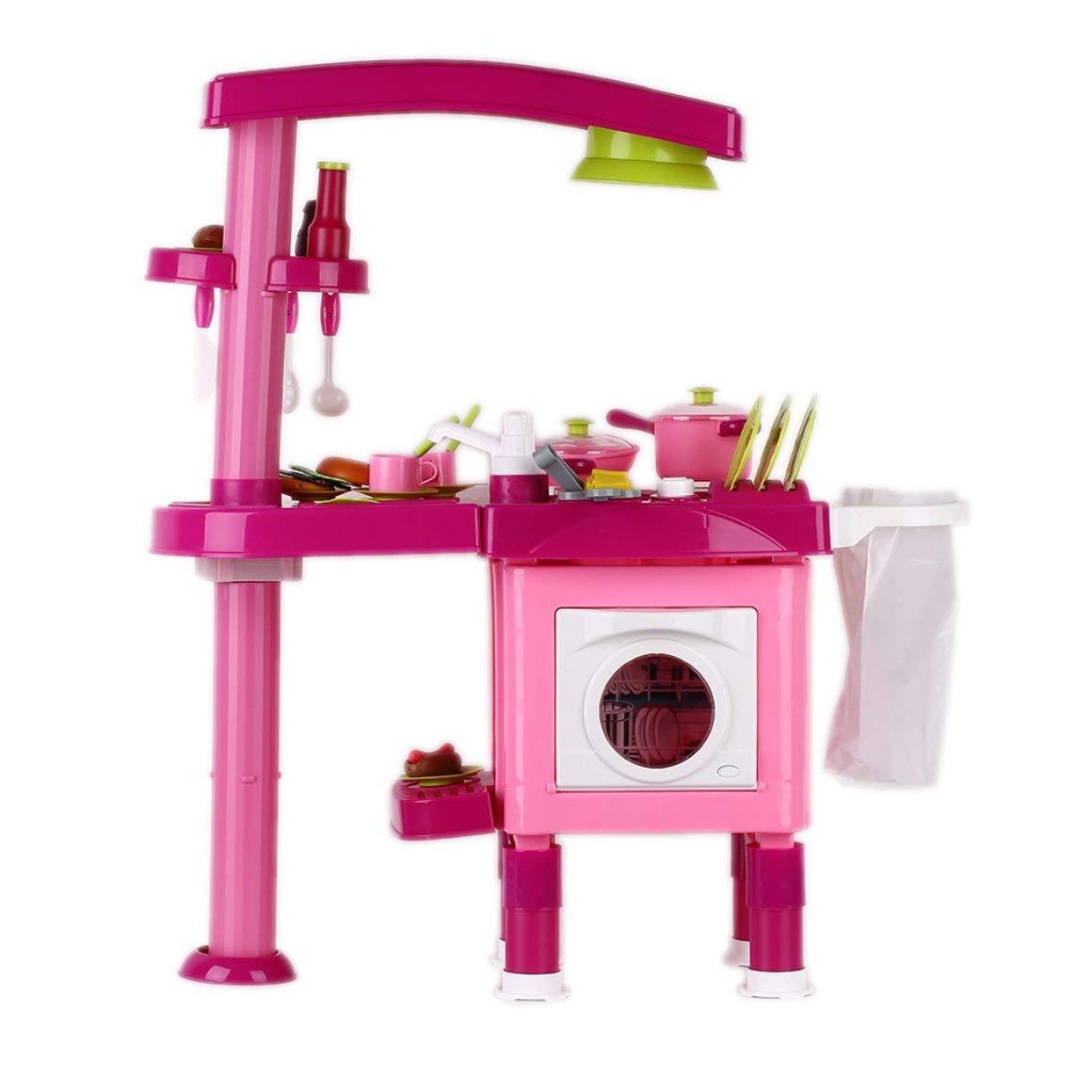 Funnyrunstore 69 Pz Bambini Bambini Cucina Cucina Giocattolo Ragazzi Ragazze Fornello Set Giocattoli educativi Gioco di Ruolo Fingere Toy Cook Game