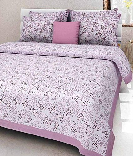 JAIPUR TO HOME Rajasthani Prints Bedsheet For Double Bed Cotton Jaipur Prints Bedsheets