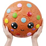 Anboor 10.2 Inches Squishies Giant Cookies Chocolate Candy Slow Rising Kawaii Scented Soft Huge Squishies Stress Relief Toy for Kids