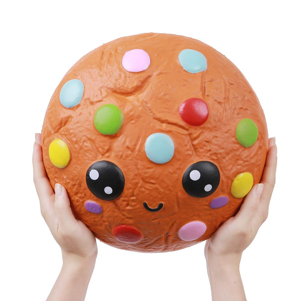 Anboor 10.2'' Squishies Giant Cookies Chocolate Candy Slow Rising Kawaii Scented Soft Huge Squishies Stress Relief Toy for Kids