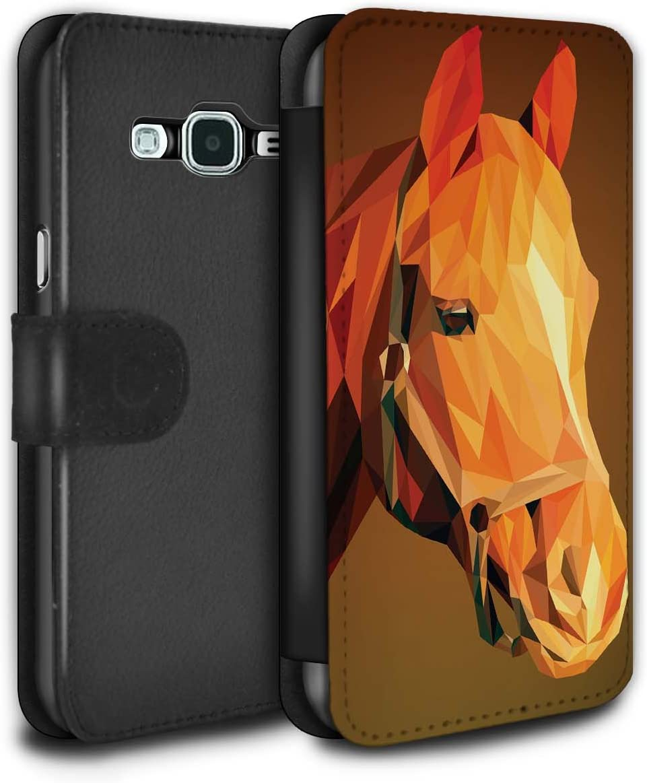 Coque Samsung Galaxy A40 animaux taille unique Cheval Noir