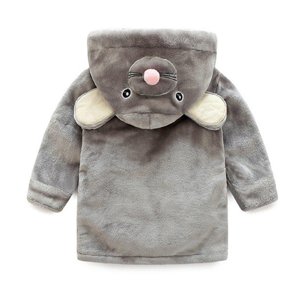 Gogokids Beb/é Albornoz con Capucha Ni/ños Ni/ñas Pijama Ropa de Dormir para Infantil