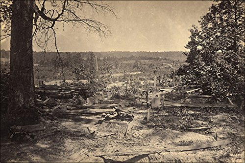 Poster Georgia, Peach Tree Creek Battlefield, Civil War 1862-1865