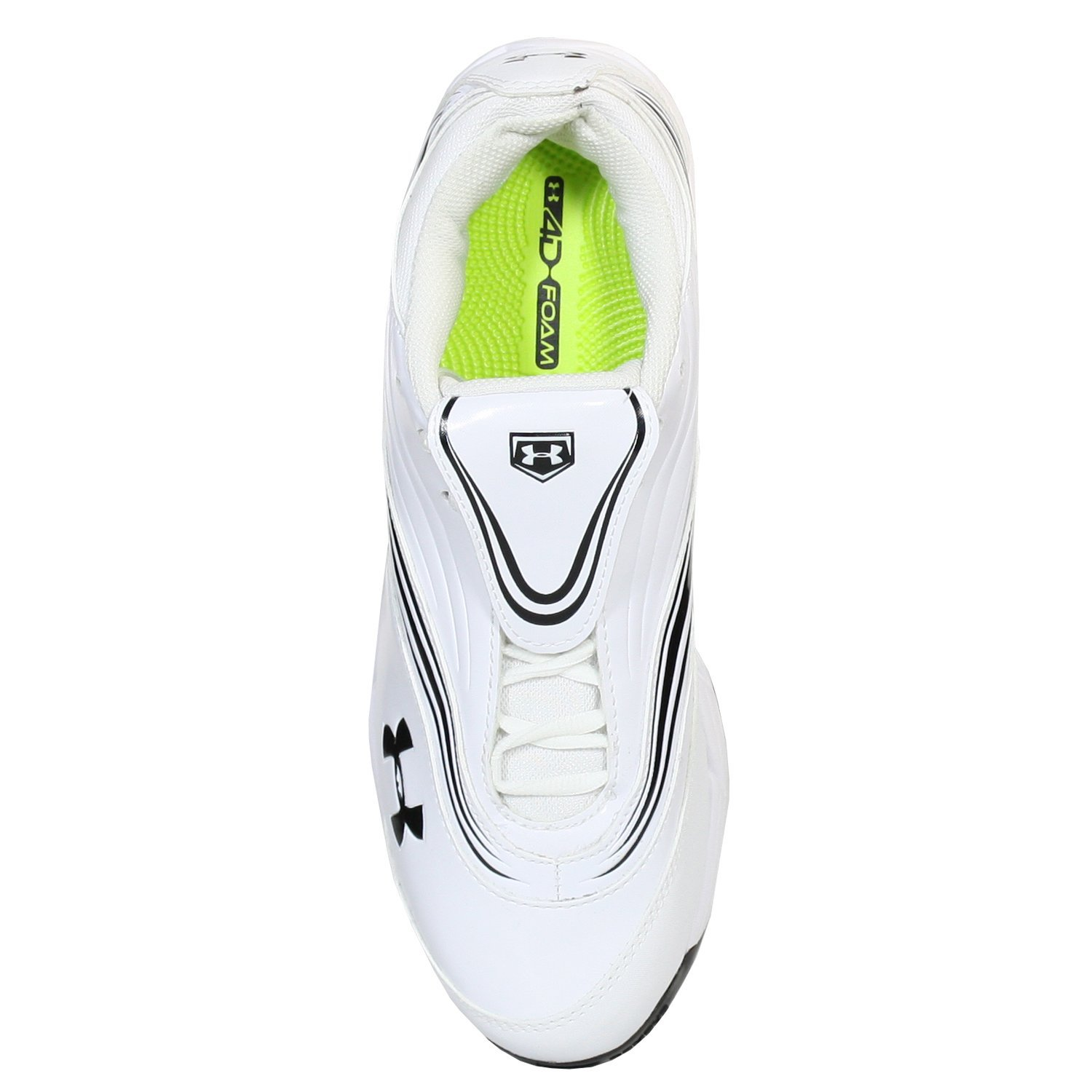 Under Armour Glyde IV WMS ST White//BLK Womens Softball Shoes US 11 M EUR 43