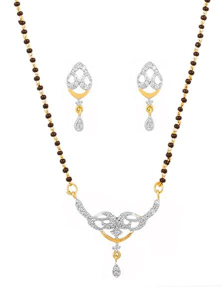 Jewelry & Watches Engagement & Wedding Indian Single Ad American Diamond Fashion Jewelry Mangalsutra Bolllywood Set M-3