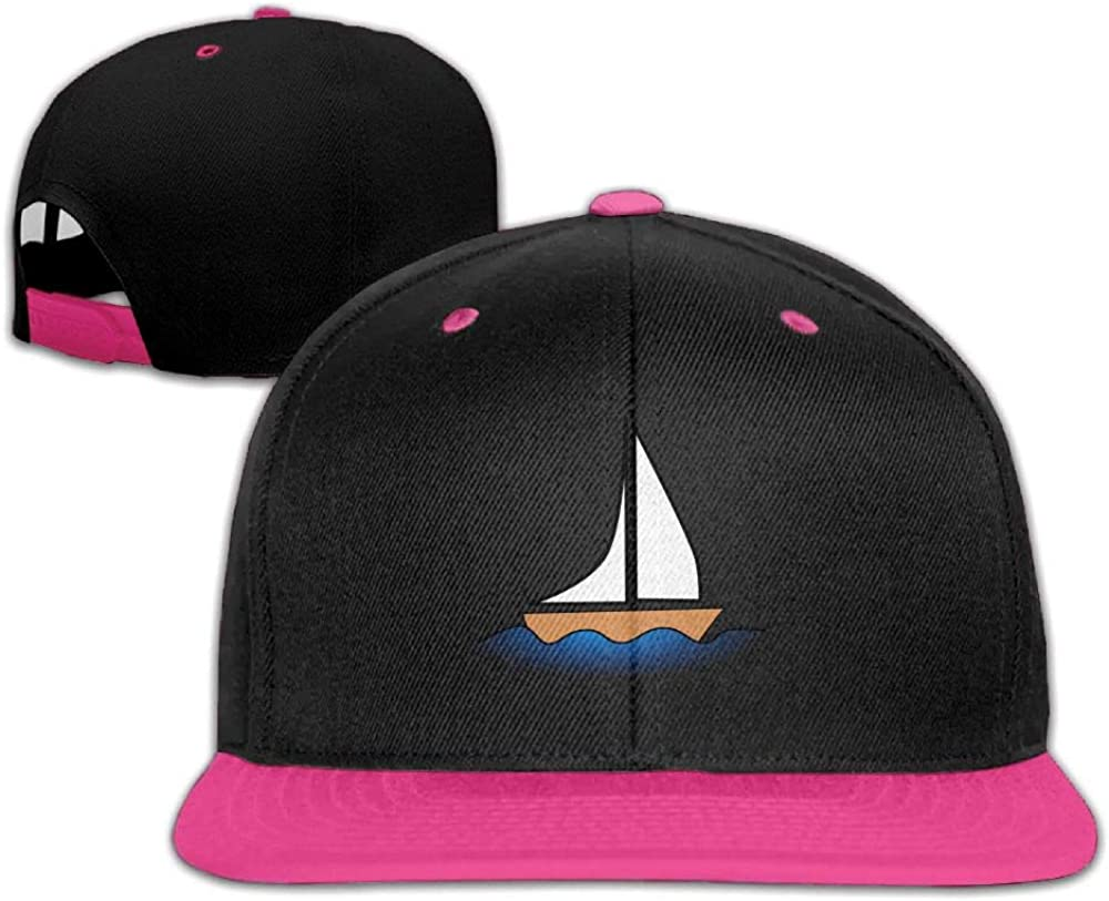 Sailboat Wind Sea Unisex Hip-hop Hats Snapback Hat Solid Flat Cap