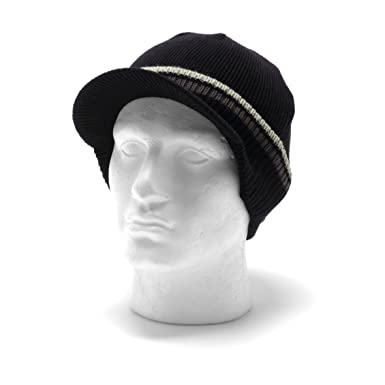 a5c30dbe8bd1c4 Bench Mens Peaked Beanie Hat - Favour Hendrix Black: Amazon.co.uk: Clothing
