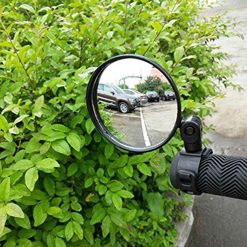 SODIAL 1 Piezas Manillar de bicicleta de bicicleta Espejo retrovisor flexible Vista posterior Seguridad 360 grados Nuevo