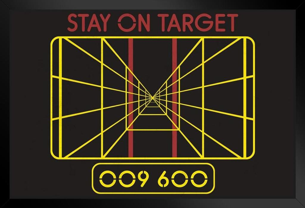 Stay On Target Targeting Computer Framed Poster 14x20 inch by Poster Foundry