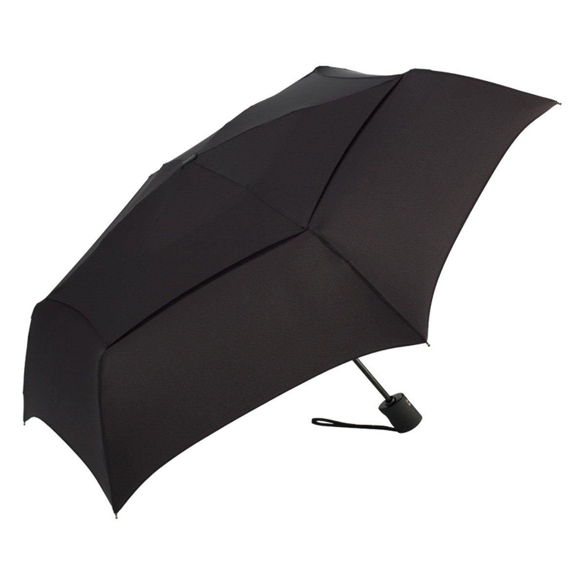 ShedRain Umbrellas Luggage Windpro Flatwear Vented Auto Open and Close Umbrella, Black, One Size