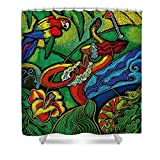 Pixels Shower Curtain (74'' x 71'') ''Hawaii''