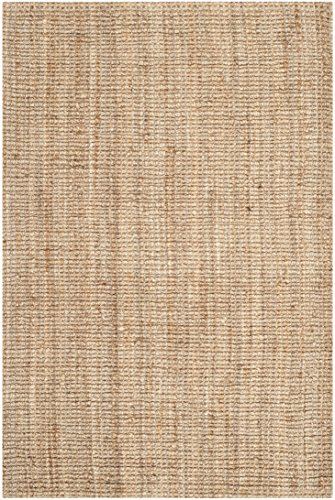 Safavieh Natural Fiber Collection NF447A Hand Woven Natural Jute Area Rug (8' x 10') (Rugs Grass Sea)