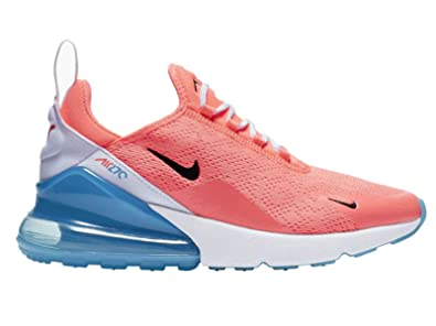 824c0e2a0d Nike Women's Air Max 270 Lava Glow/Black/White/Blue Fury Mesh Cross