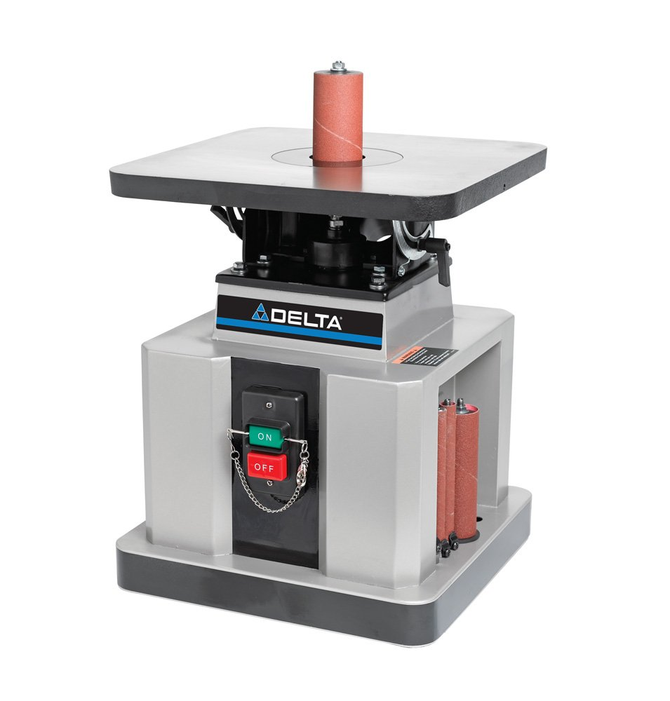 Delta Woodworking 31-483 Heavy-Duty Oscillating Bench Spindle Sander, 1/2-HP, 115-volt by Delta Power Equipment Corp