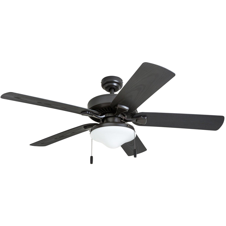 Honeywell Belmar Outdoor LED Ceiling Fan with LED Light, Waterproof, Damp-Rated, 52'' Dark Bronze