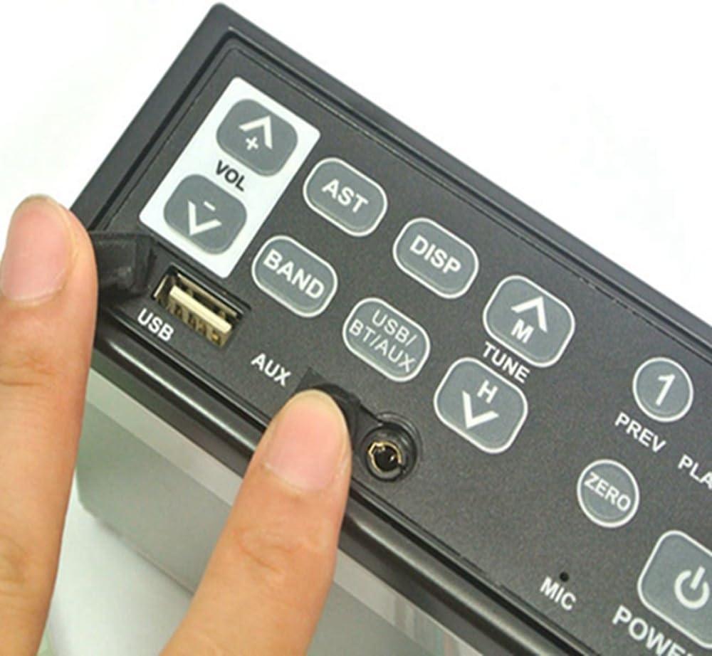 12v//24v Car Bluetooth Excavator Radio AUX-IN Slot Fm//am USB Mic Mp3 for Hitachi Komatsu Kato