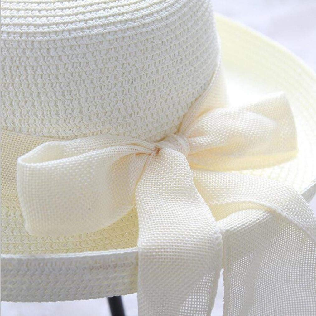 Womens Foldable Structured Curved Wide Brim Bucket Straw Sun Hat