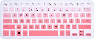 ikammo Keyboard Cover Compatible with 15.6 Inspiron 15 7568 7569 i7568 i7569 5568 i5568 & 15.6 XPS 15 9550 9560 9570 & 13.3 Inspiron 5368 7368 i5368 i7368(Ombre Pink)