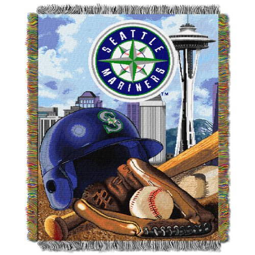 Mariners OFFICIAL Major League Baseball, Home Field Advantage 48x 60 Woven Tapestry Throw