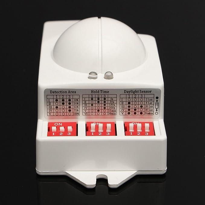 Calli T-9800 5.8GHz 220v / 240v interruptor del sensor de radar detector de movimiento de microondas 5.8GHz para LED Luz: Amazon.es: Electrónica