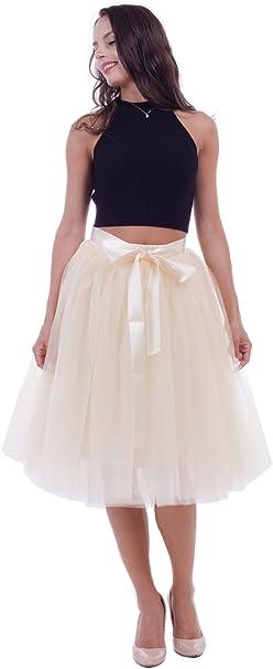 A Line Tulle Skirt