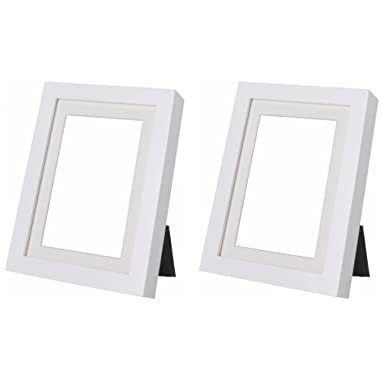 Ikea Ribba 5x7 Picture Frame. White. Set of 2