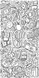 Canvas On Demand Circle Kids Removable Wallpaper Tile for Coloring, 24'' x 48'', entitled 'School is Cool'