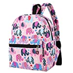 """Lily & Drew Lightweight Travel Backpack for Women and Teens 12 MEDIUM size 15-inch backpack. Please note there are two sizes: small and medium. This medium-sized backpack is 15.5"""" tall x 11.5"""" wide x 6.3"""" deep. Binders, folders and laptop computers will fit. See pictures and description for reference and further details. POCKETS. Two side pockets for water bottles, sun-glasses, etc. Front zippered pocket for small items such as pens, phone, etc. Large main compartment with heavy-duty double zippers for big items such as laptop, binder, books, notebook, folder, and more. PERFECT for laptop. Convenient internal sleeve is ideal for a 14-inch laptop computer, tablet or iPad. Perfect fit for MacBook, MacBook Air or MacBook Pro 13-inch. Maximum laptop size is about 13-1/2"""" x 10"""" x 1"""" thick."""
