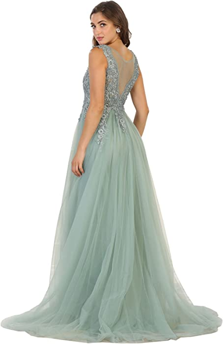 RQ7550 A-line Prom Dance Formal Gown