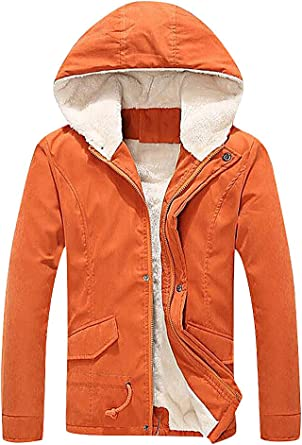Cromoncent Girls and Boys Faux Fur Hooded Fleece Outer Wear Children Parka Jacket