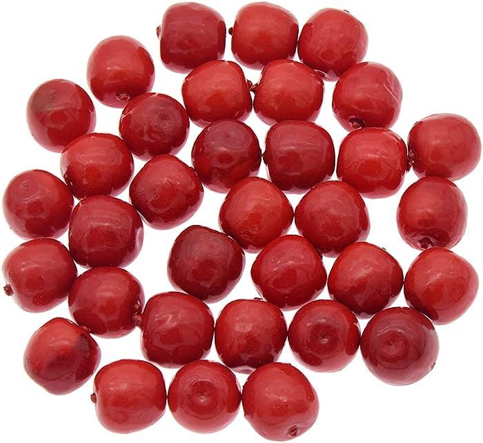 """Kesheng 30Pcs Mini 1"""" Artificial Red Apple Bubble Simulation Fake Fruit for Floral Arrangements Fruit Decorations"""