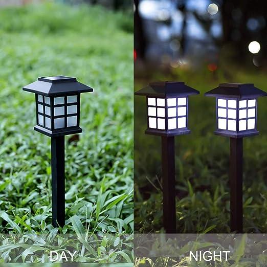 Amazon.com: Webberstore Retro Solar Luces al aire libre ...
