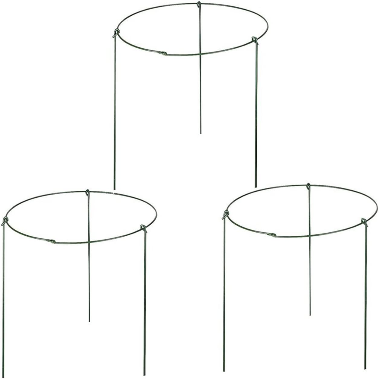 """rescozy (Pack of 3) Large Garden Plant Support Rings, 10"""" Wide x 17"""" High, 3 Legs"""
