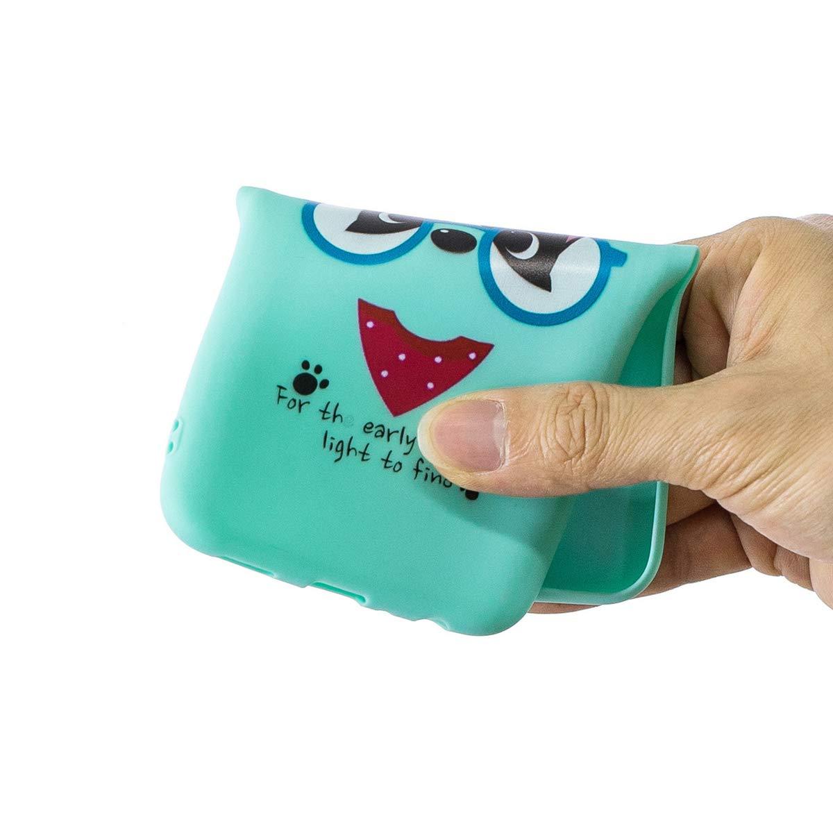 WOOHOO compatible con Funda Samsung A10 Silicona Cerdito cuerda larga Rosa