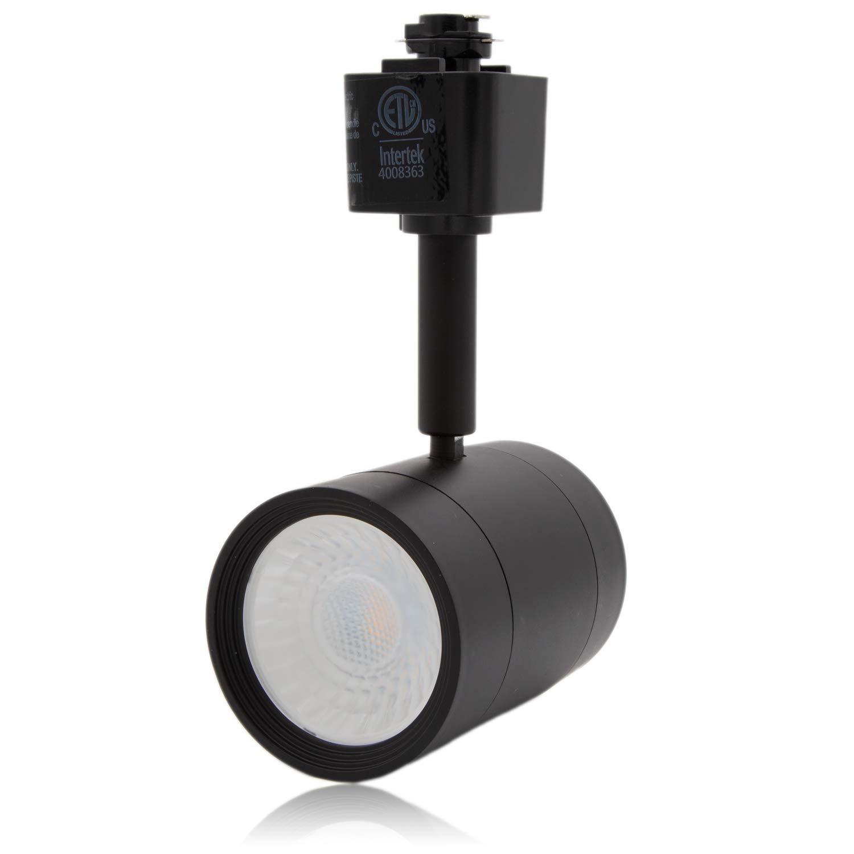 Maxxima LED Track Light Head, Adjustable, Dimmable MR16 Fixture, 3000K Warm White 90 CRI, 500 Lumens, 8.5 Watt Energy Star, Black