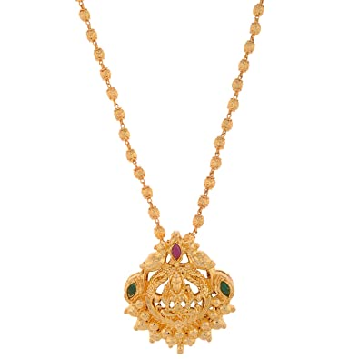 Buy 1 gram gold plated lakshmi pendant without chain online at low 1 gram gold plated lakshmi pendant without chain aloadofball Gallery