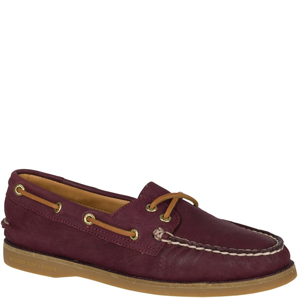 Sperry Men's Gold Cup Maroon Leather Welt Boat Shoe - 9 B(M) US