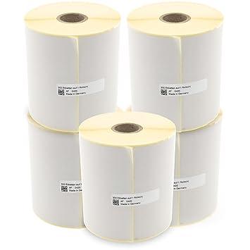DHL,GLS,UPS 100 x 150 mm Thermo Etiketten mit PERFORATION 500 Stück