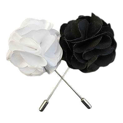 Amazon.com: Wristchie hombre solapa de flores hecho a mano ...