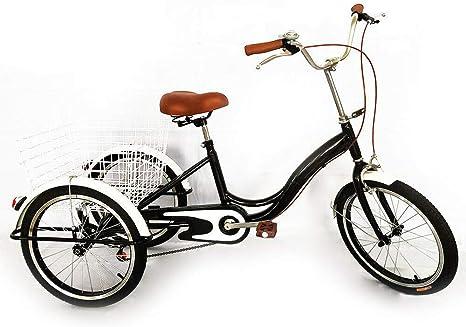 MOMOJA Triciclo de 3 Ruedas Triciclo de Bicicleta para Triciclo ...